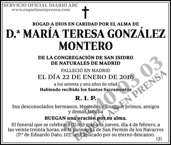 María Teresa González Montero